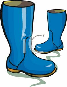 Picture: A Pair of Blue Rain Boots.
