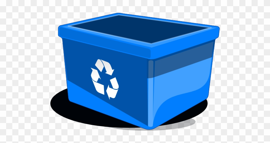 Cartoon Blue Recycle Bin Clipart (#112947).