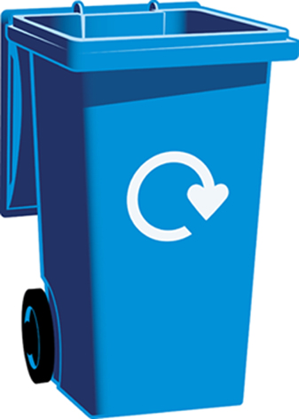 Blue Recycle Bin Clipart.