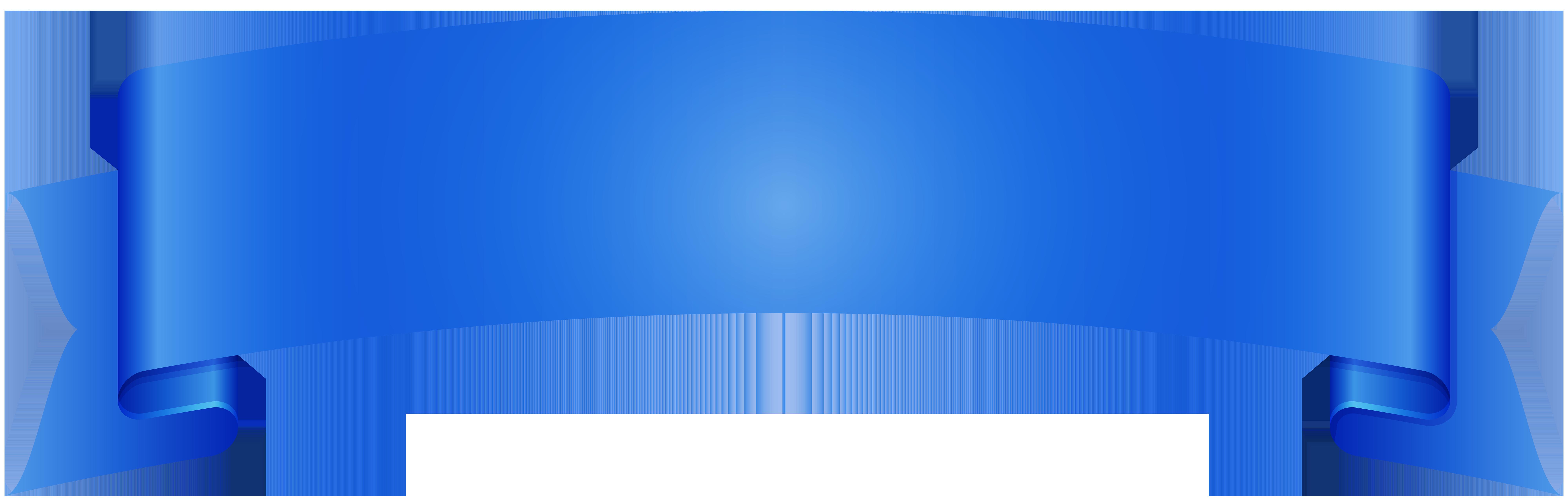 Blue Banner Transparent PNG Image.