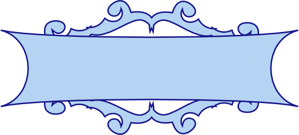 Blue Ribbon Banner Clipart.