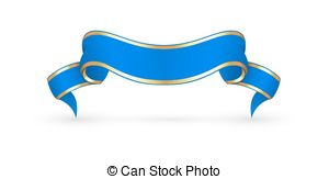 blue ribbon banner clipart #7