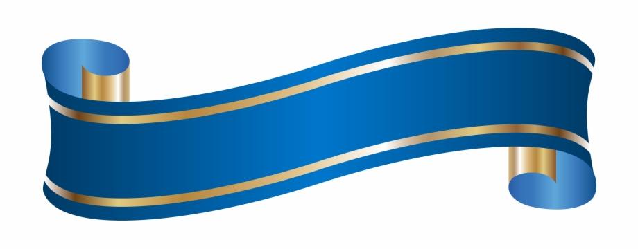 Elegant Banner Blue Png.