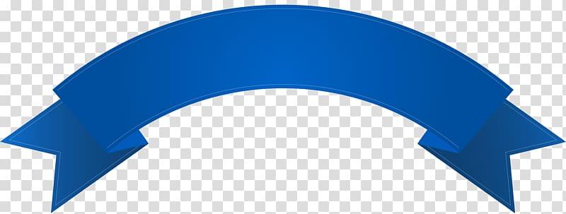 Blue ribbon banner , Banner , Blue Banner Deco transparent.