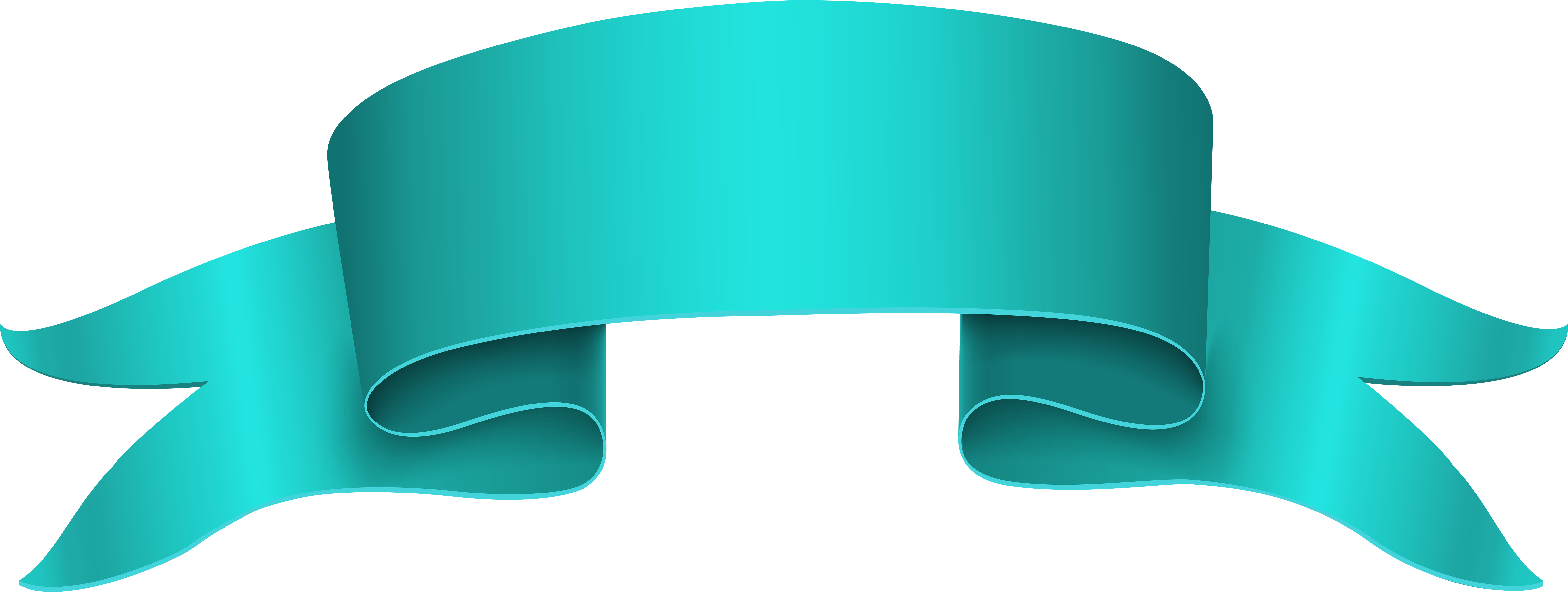 HD Straight Ribbon Banner Png.