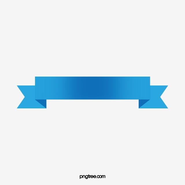 Blue Ribbon Banner Vector, Ribbon Banner, Title Ribbon, Blue Ribbon.