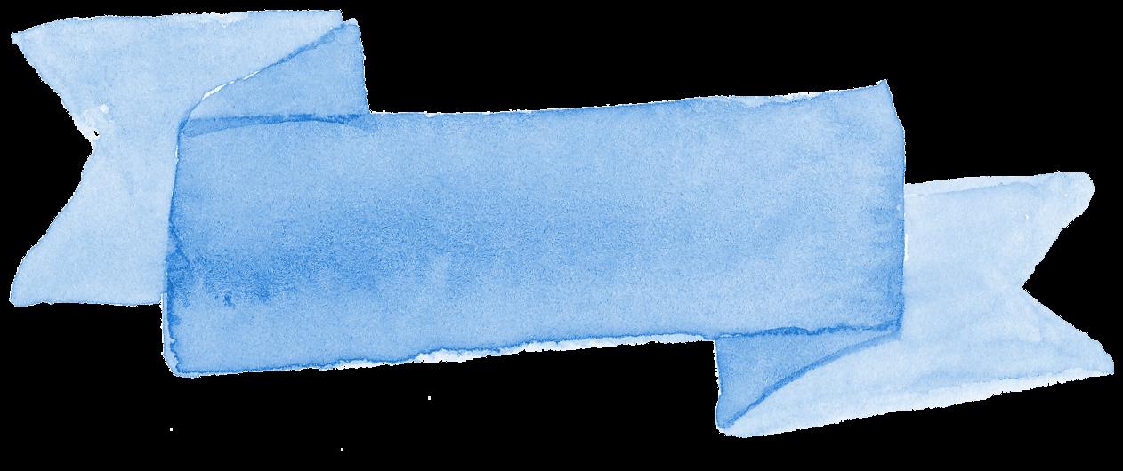 8 Blue Watercolor Ribbon Banner (PNG Transparent).