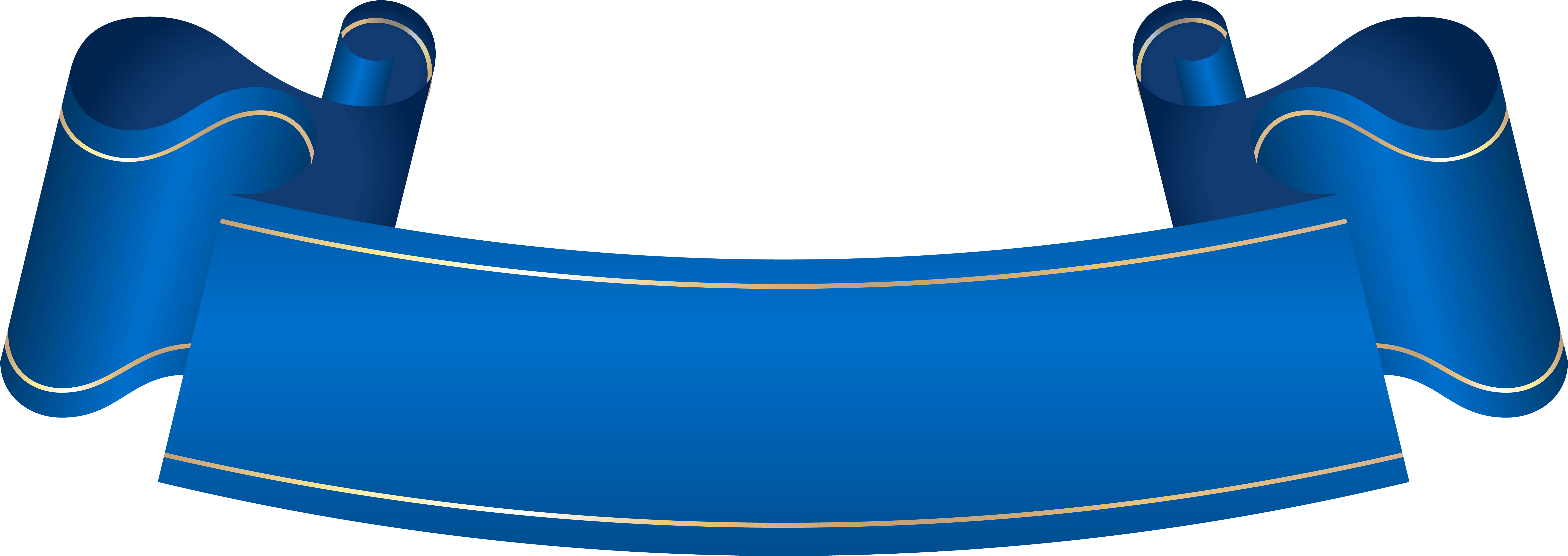 Blue Banner Transparent Clip Art.