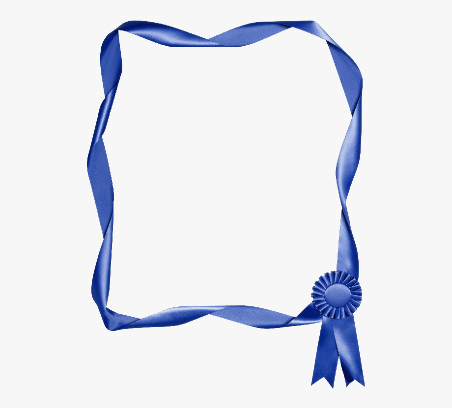 Hd Blue Ribbon Border Clip Art , Free Unlimited Download.