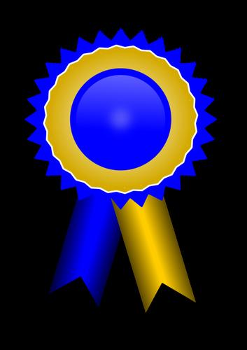 4346 free clipart blue ribbon award.