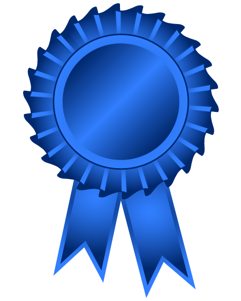 First Place Blue Ribbon Clip Art #jN268v.