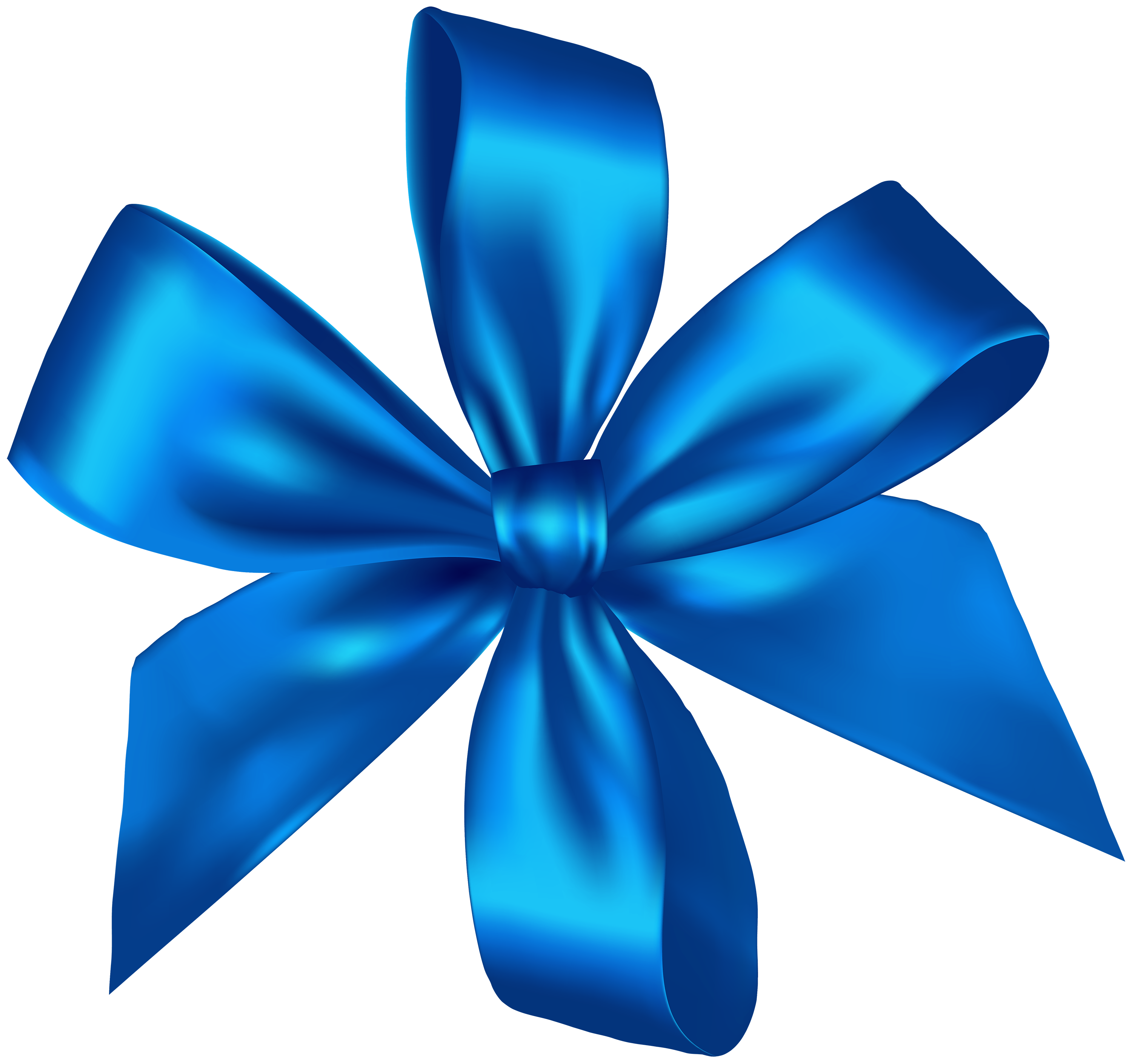 Blue Ribbon PNG Clipart.