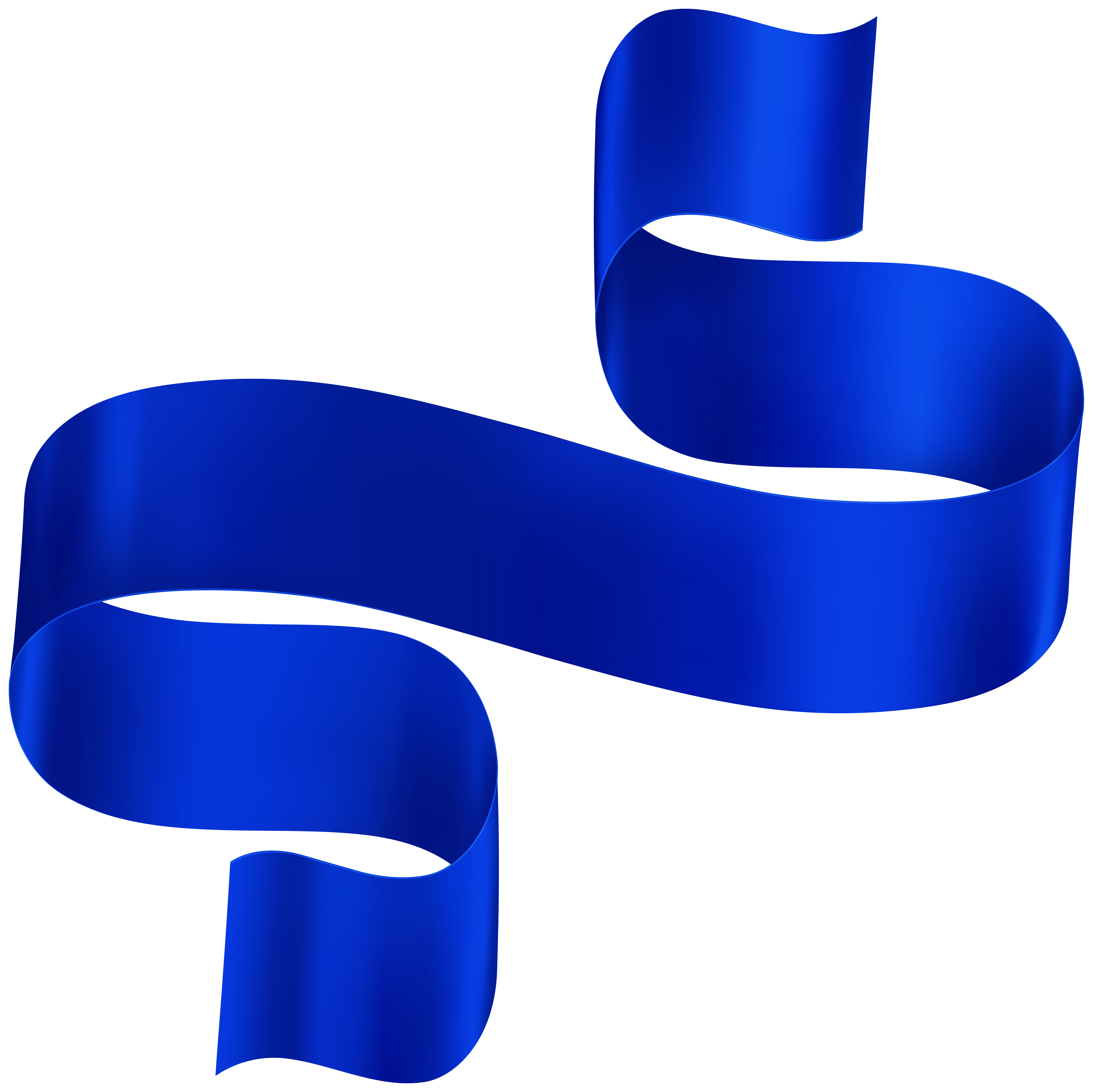 Dark Blue Ribbon PNG Clipart.