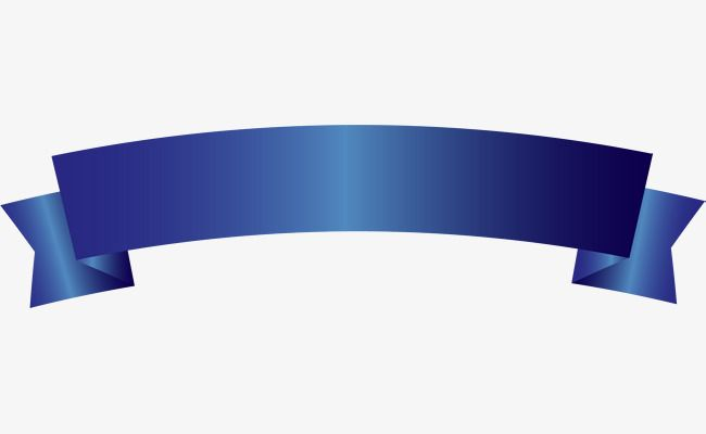 Simple Blue Ribbon, Ribbon Clipart, Blue, Simple PNG Transparent.