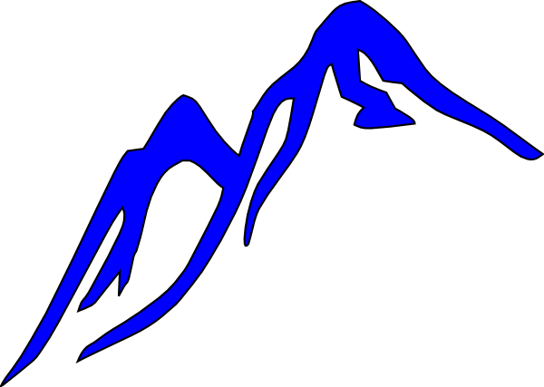 Blue ridge mountains clipart.