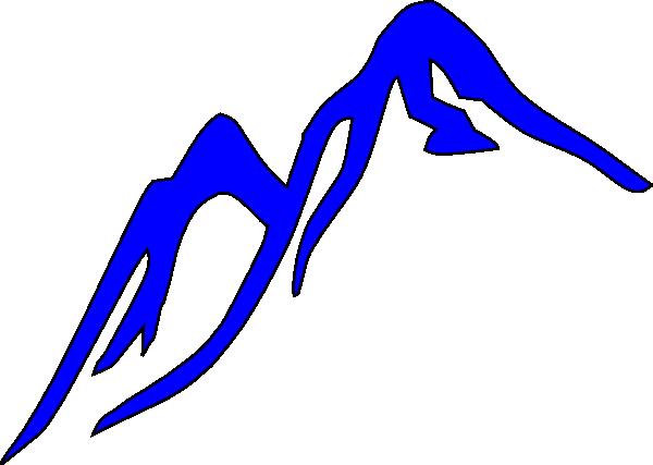 Blue ridge mountains clipart.