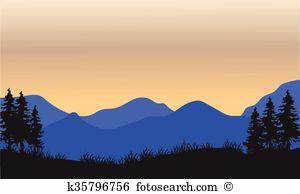 Blue ridge outline Clip Art EPS Images. 39 blue ridge outline.