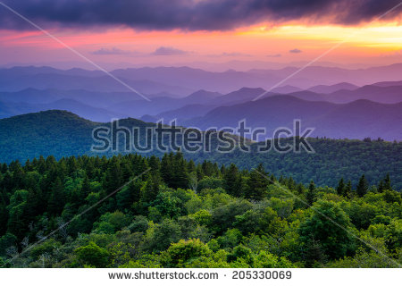 Blue Ridge Mountains Stock Images, Royalty.