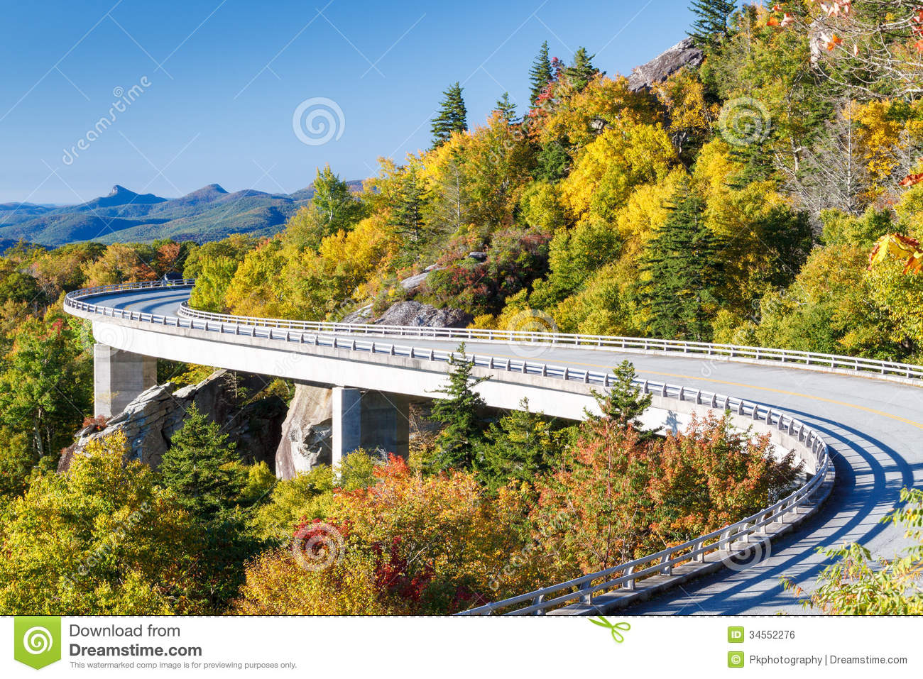Blue Ridge Parkway, Linn Cove Viaduct Royalty Free Stock Image.