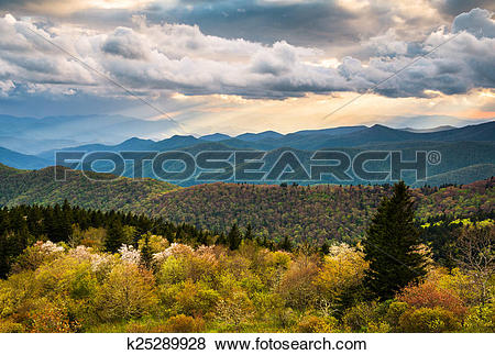 Pictures of North Carolina Blue Ridge Parkway Scenic Mountain.