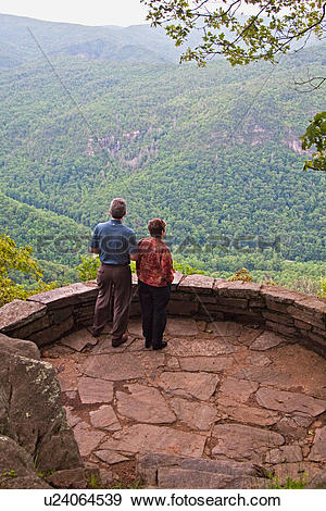 Stock Photograph of chestoa view overlook blue ridge parkway north.