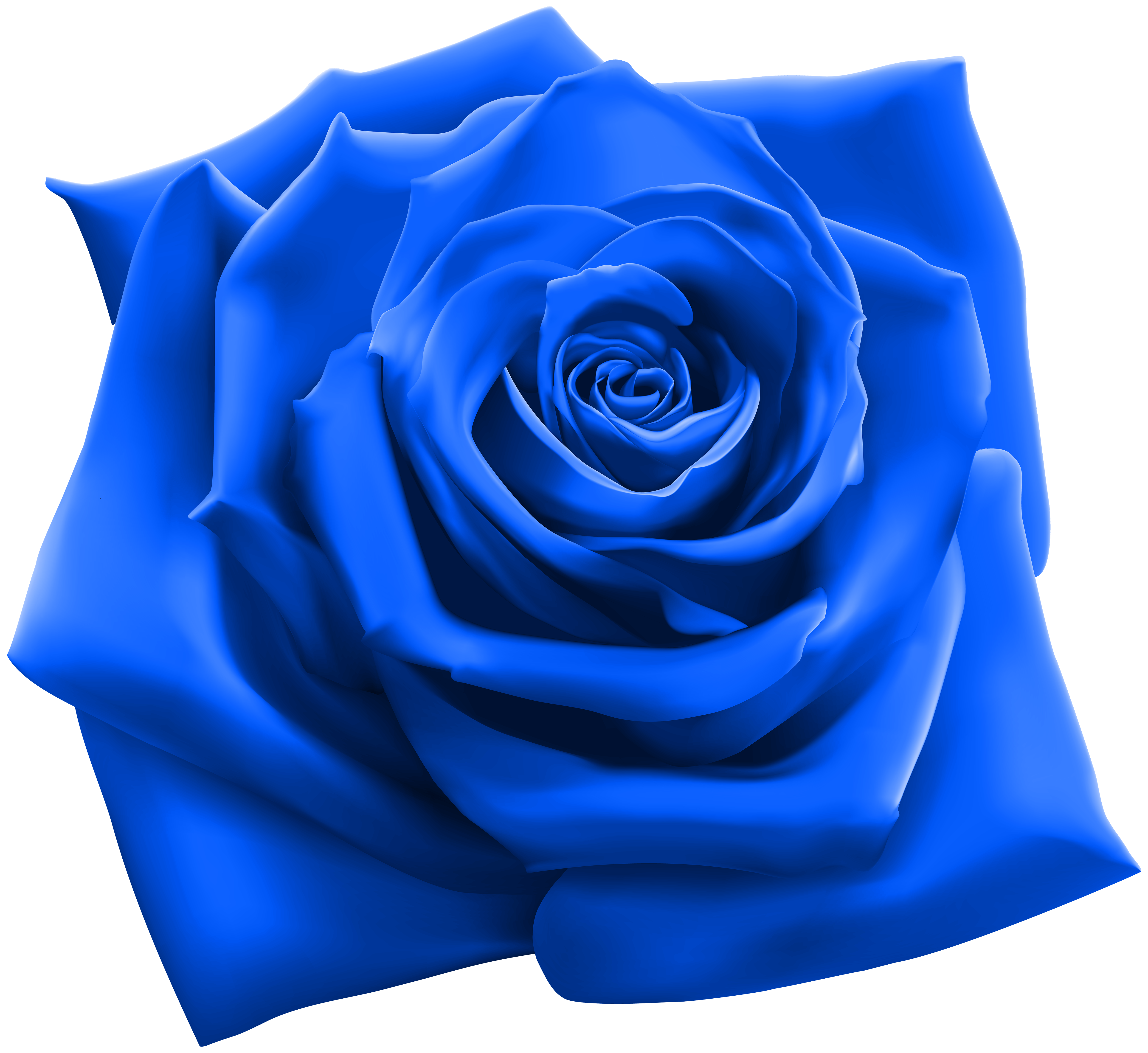 Blue Rose PNG Clipart Image.