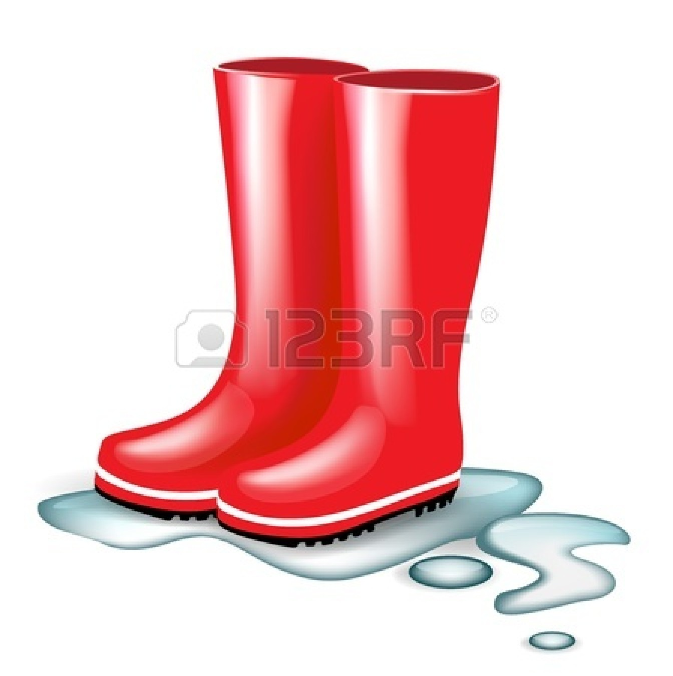 Rubber Boots Clipart.