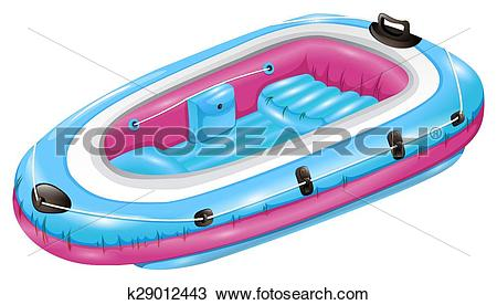 Clipart of Rubber boat k29012443.