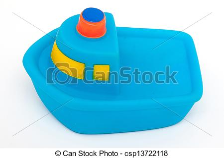 Stock Photography of Blue toy rubber boat csp13722118.