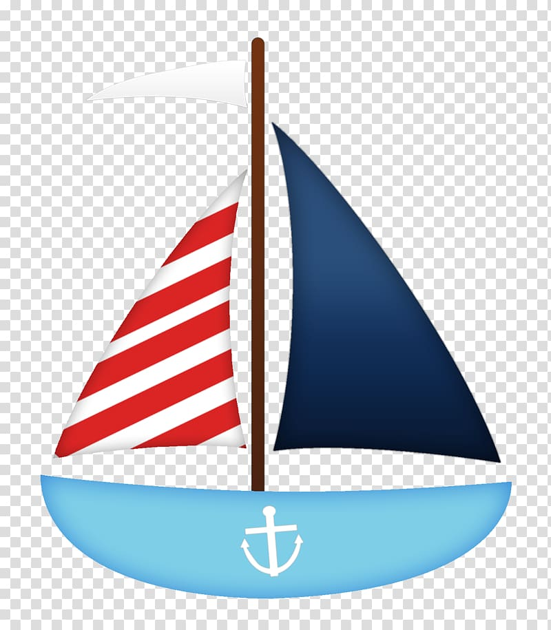 Blue and red sailing yacht illustration, Sailboat , paddle.