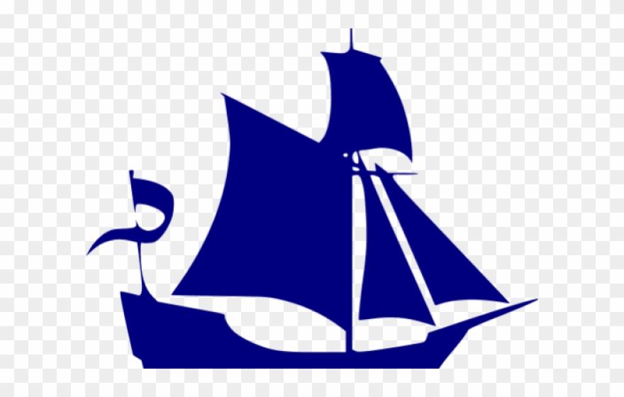 Sail Clipart Navy Blue Sailboat.