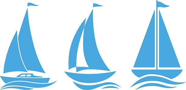 Best Sailboat Illustrations, Royalty.