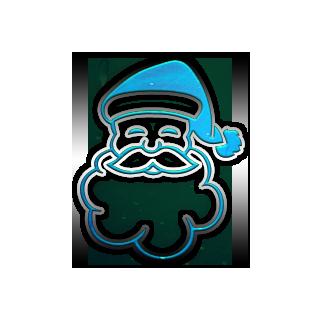 Blue Santa Claus Clipart.