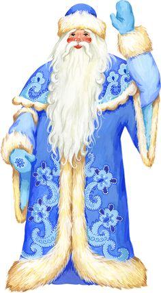 Blue Santa Clipart (28+).