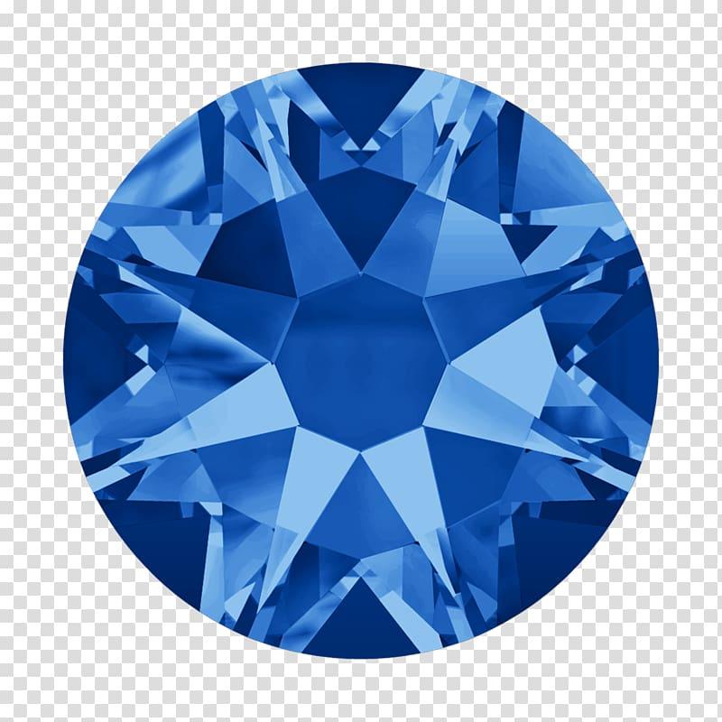 Blue gemstone illustration, Swarovski AG Rhinestone Diamond.