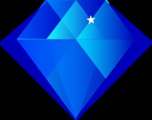 Clipart diamond blue sapphire, Clipart diamond blue sapphire.