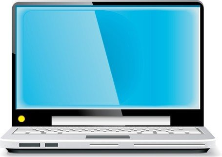 Laptop Vector Blue Screen Clipart Picture Free Download.