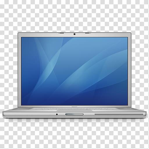 Temas negros mac, gray laptop computer displaying blue.