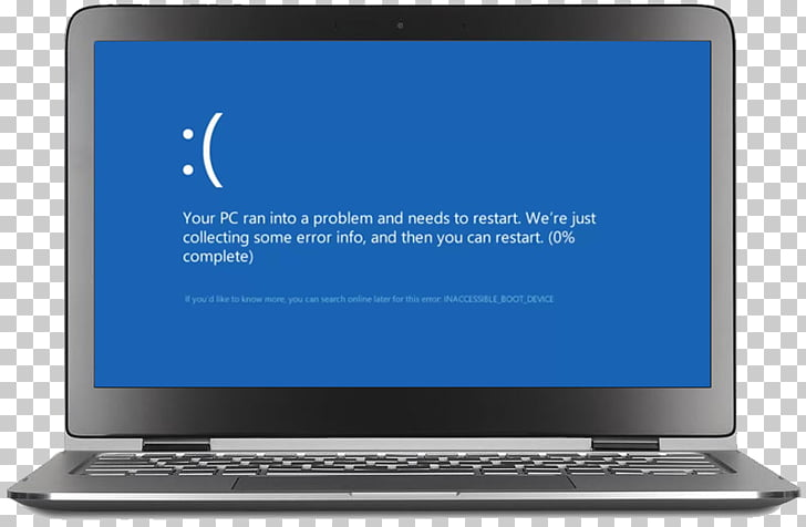 Netbook Laptop Personal computer Windows 10 Blue Screen of.