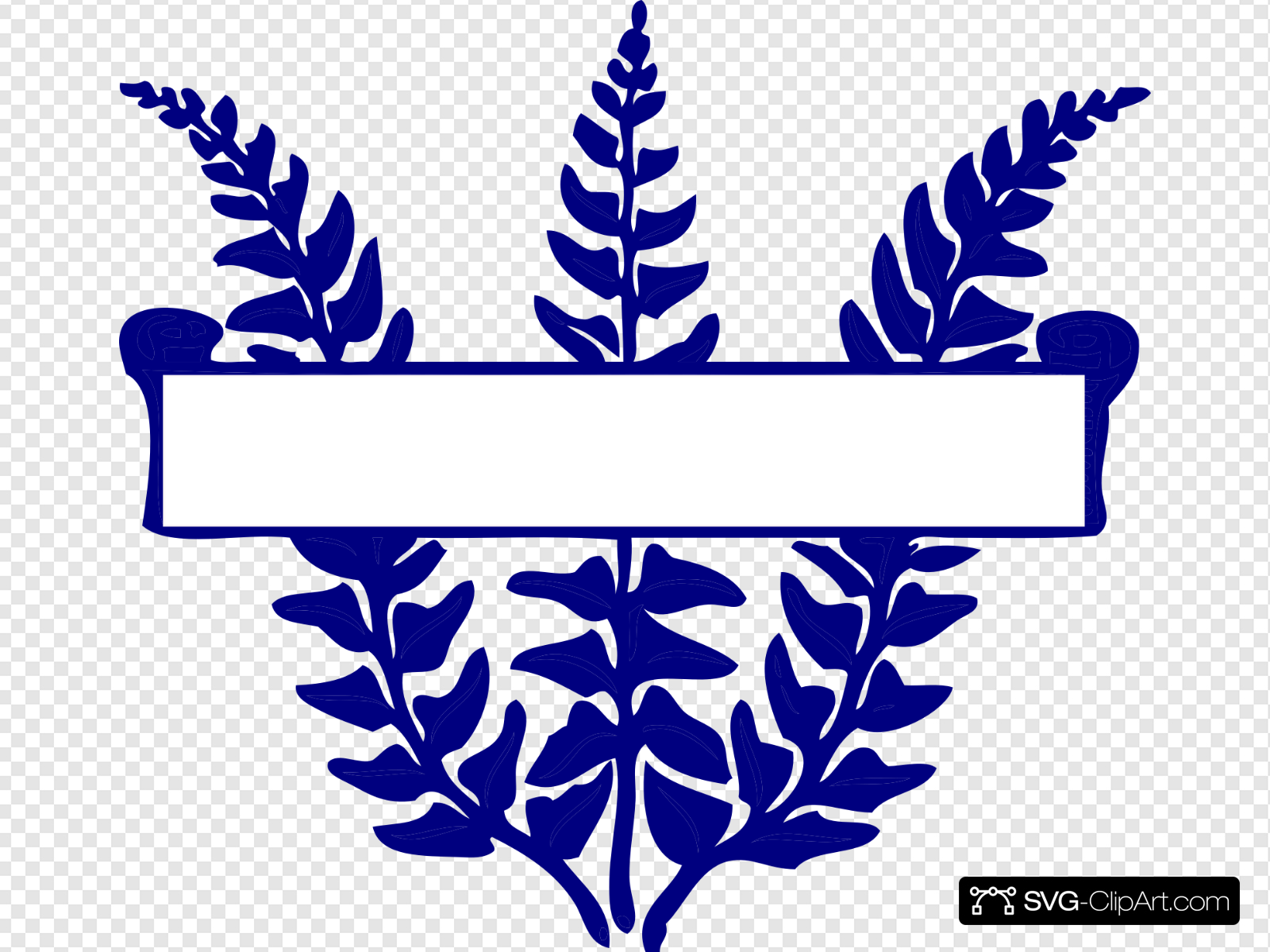 Blue Fern Scroll Clip art, Icon and SVG.