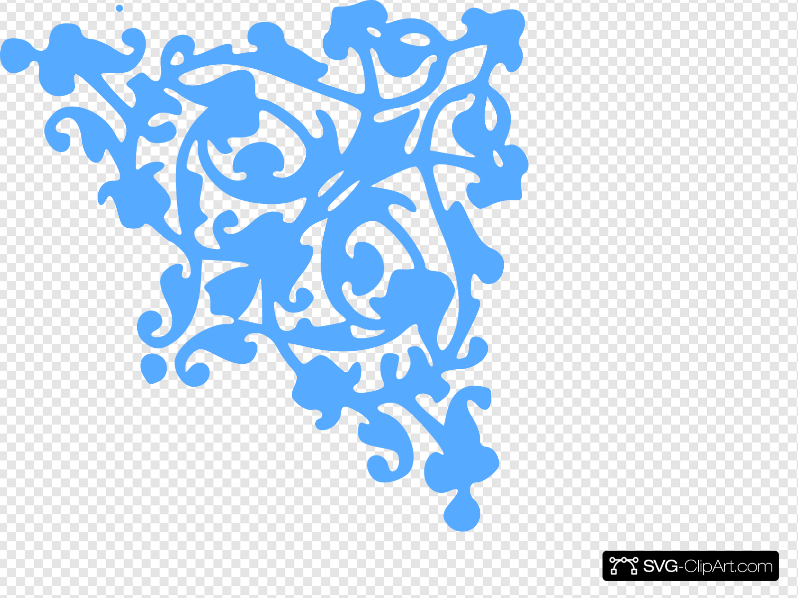 Blue Scroll Clip art, Icon and SVG.