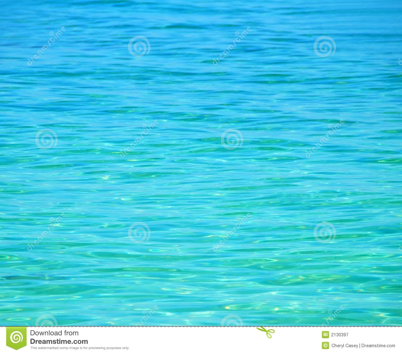 Crystal Clear Blue Sea Royalty Free Stock Photography.