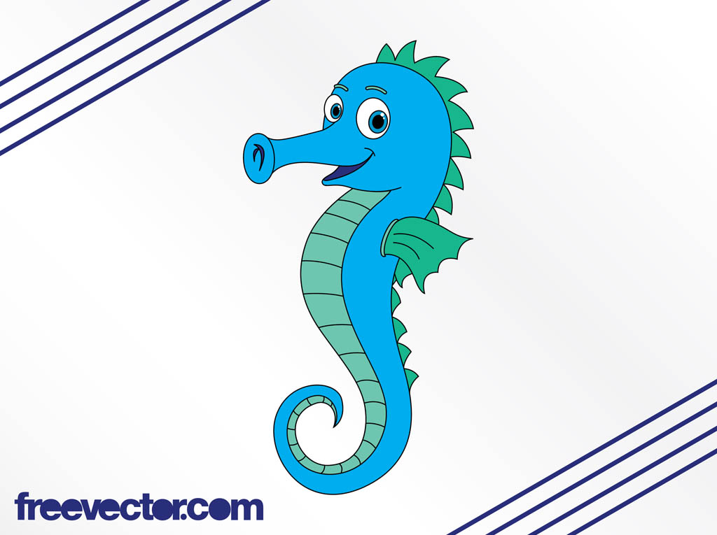 Showing post & media for Cartoon blue seahorse.