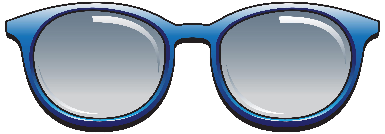 Blue Sunglasses PNG Clipart Image.