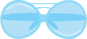 Blue Sunglasses Clip Art.