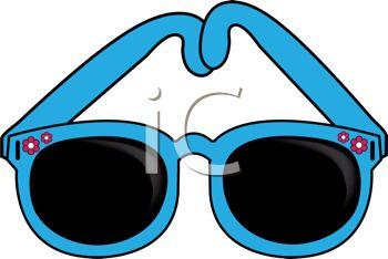 Blue Sunglasses Clipart.