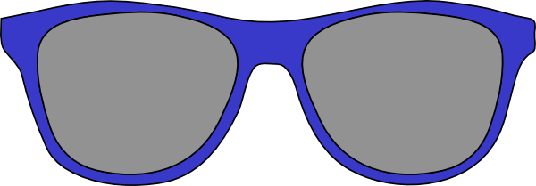 Blue Sunglasses Clipart.