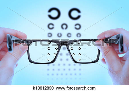 Stock Photography of Checking vision on the table Golovin. In the.