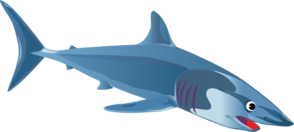 A Blue Shark Clip Art at Clker.com.