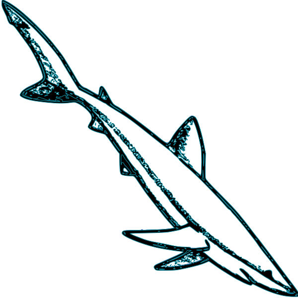 Blue Shark SVG Vector file, vector clip art svg file.